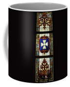 Stained Glass 3 Panel Vertical Composite 01 Coffee Mug by Thomas Woolworth