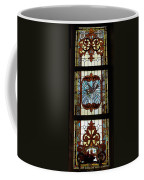 Stained Glass 3 Panel Vertical Composite 03 Coffee Mug