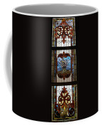 Stained Glass 3 Panel Vertical Composite 04 Coffee Mug by Thomas Woolworth
