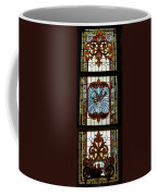 Stained Glass 3 Panel Vertical Composite 05 Coffee Mug by Thomas Woolworth