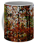 Stained Glass Autumn Colors In The Forest  Coffee Mug