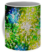 Stained Glass Beautiful Fireworks Coffee Mug