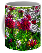 Stained Glass Chrysanthemum Flowers Coffee Mug