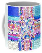 Stained Glass Colorful Cross Coffee Mug