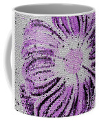Stained Glass Flower With Purple Stripes Coffee Mug