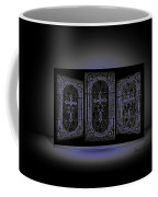 Stained Glass In Blue Coffee Mug