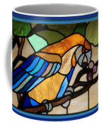 Stained Glass Parrot Window Coffee Mug