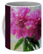 Stained Glass Peonies Coffee Mug