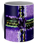 Stained Glass Purple Cross Coffee Mug