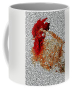 Stained Glass Rooster Coffee Mug