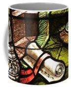 Stained Glass Scroll Coffee Mug