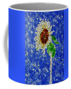 Stained Glass  Sunflower Over The Blue Sky Coffee Mug