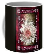 Stained Glass Template White Chrysanthemum Coffee Mug