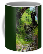 Stairway Through The Forest Coffee Mug