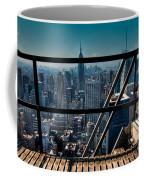 Stairways On Top Of Rockefeller Center Coffee Mug by Amy Cicconi