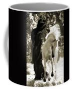 Stallion Dances In Sepia Coffee Mug