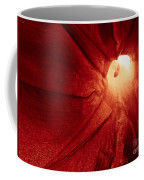 Burgundy Petal Coffee Mug