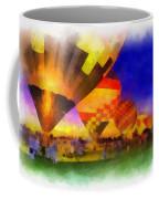 Standbye To Launch Hot Air Balloons Photo Art Coffee Mug