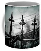 Standing Guard By Loved Ones - Bw Texture Coffee Mug