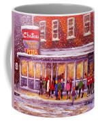 Standing In Line At The Chateau Coffee Mug