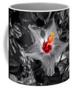 Star Bright Hibiscus Selective Coloring Digital Art Coffee Mug