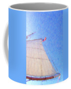 Star Of India. Flag And Sail Coffee Mug