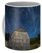 Star Trails Over Barn Coffee Mug