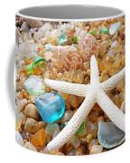 Starfish Art Prints Shells Agates Coastal Beach Coffee Mug
