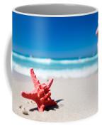 Starfish On Tropical Beach Coffee Mug