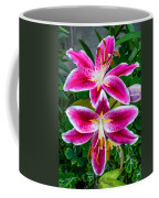 Stargazer Oriental Lilies Coffee Mug