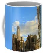 Manhattan Skyline Here Comes The Sun Coffee Mug by Dan Sproul