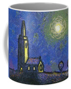 Starry Church Coffee Mug by Pixel Chimp