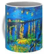 Starry Night Bridge Coffee Mug