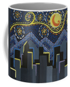Starry Night Cityscape Coffee Mug