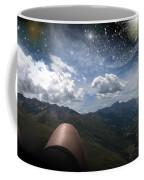 Stars And Planets In A Valley Coffee Mug