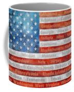 Stars And Stripes With States Coffee Mug