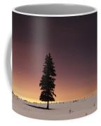 Stars In The Night Sky With Lone Tree Coffee Mug