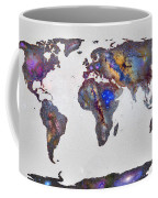 Stars World Map Coffee Mug