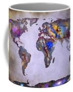 Stars World Map Space Coffee Mug