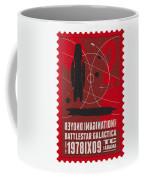 Starschips 02-poststamp - Battlestar Galactica Coffee Mug by Chungkong Art