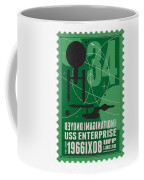 Starschips 34-poststamp - Uss Enterprise Coffee Mug by Chungkong Art