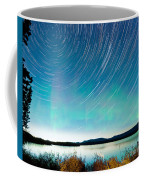 Startrails Aurora Borealis Display Lake Laberge Coffee Mug
