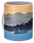 State Ferry And The Olympics Coffee Mug