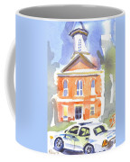 Stately Courthouse With Police Car Coffee Mug