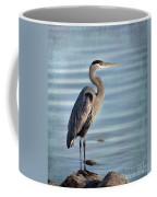 Stately-great Blue Heron Coffee Mug