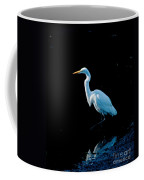 Stately Snowy Egret Coffee Mug