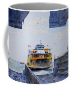 Staten Island Ferry Docking Coffee Mug