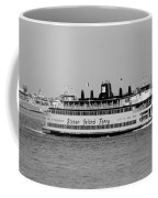 Staten Island Ferry In Black And White Coffee Mug