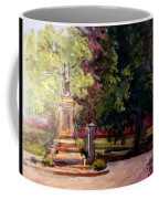 Statue In  Landscape Coffee Mug