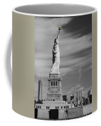 Statue Of Liberty And The Freedom Tower Coffee Mug